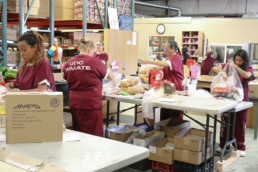 inmates bagging commissary items at the UCI commissary