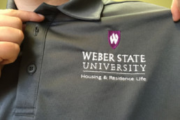 Embroidered shirt with logo