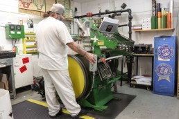 Offender operating printing machine.