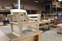 Wooden chair without cushions or fabric
