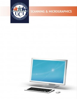 Cover of scanning and micrographics catalog.