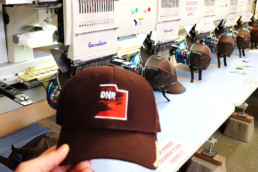 Hat with embroidered logo